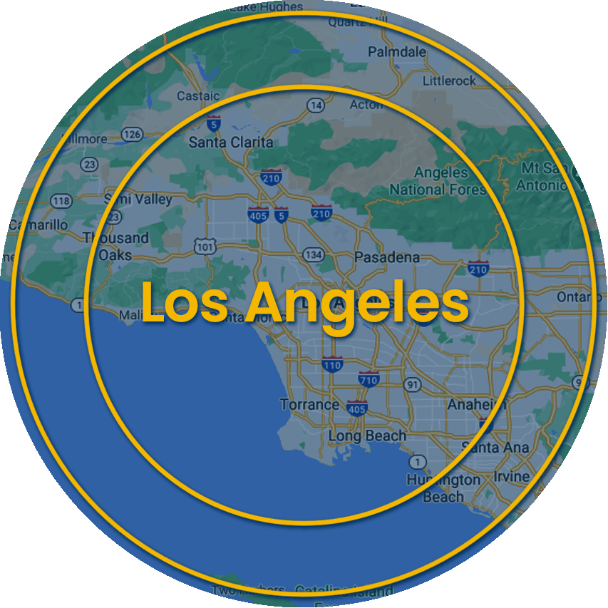 LA 30-mile radius map