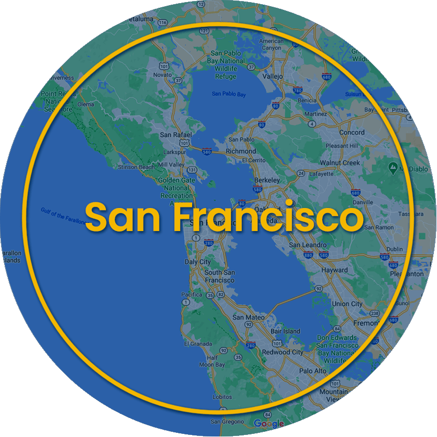 SF radius map